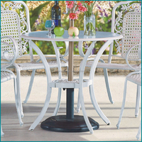 High back velvet aluminum bar table and chair JJ-023TC
