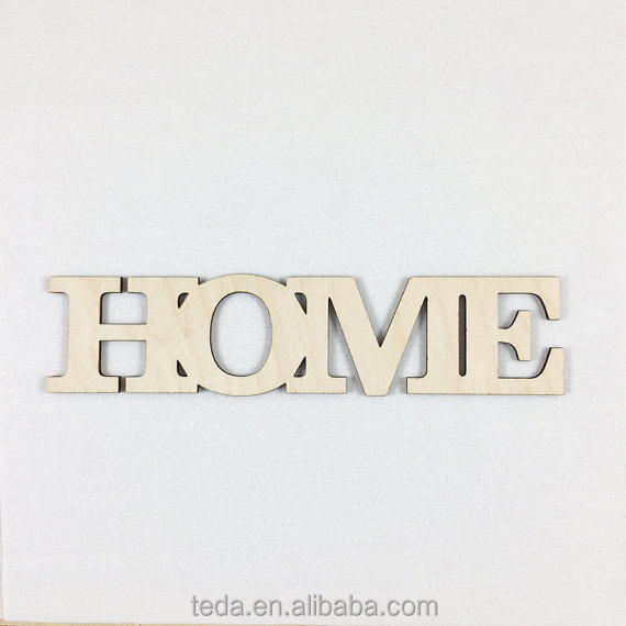 DIY Wood '' HOME'' letters ,Many Size Options