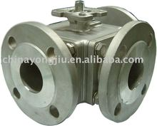 3 Way Flanged Ball Valves