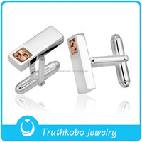 L C0010 Fashion Mens Silver Cufflinks