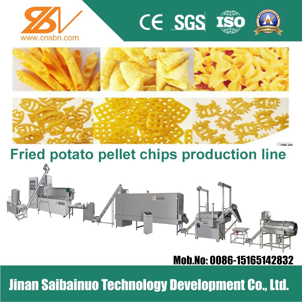 industrial potato pellet bugle snacks making machine processing line