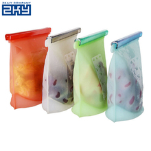 Wholesale Food Grade Silicone Heat Resistant Breast Milk Food Storage Bag,Silicone Food Seal Fresh Storage Bag Ziplock