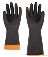 colorful chemical resistant latex industrial gloves