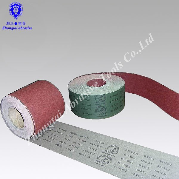"4""* 50m Jumbo Roll JA512 Abrasive Cloth Roll Abrasive Emery Cloth Roll"