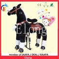 Keep fit walking horse/ mechanical black pony riding for adult