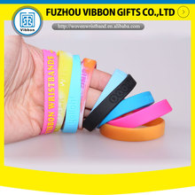 Popular silicone rubber wristband for gym and swimming pool