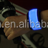 hot selling new nylon fabric wristbands with led light flashing in the dark for running safety