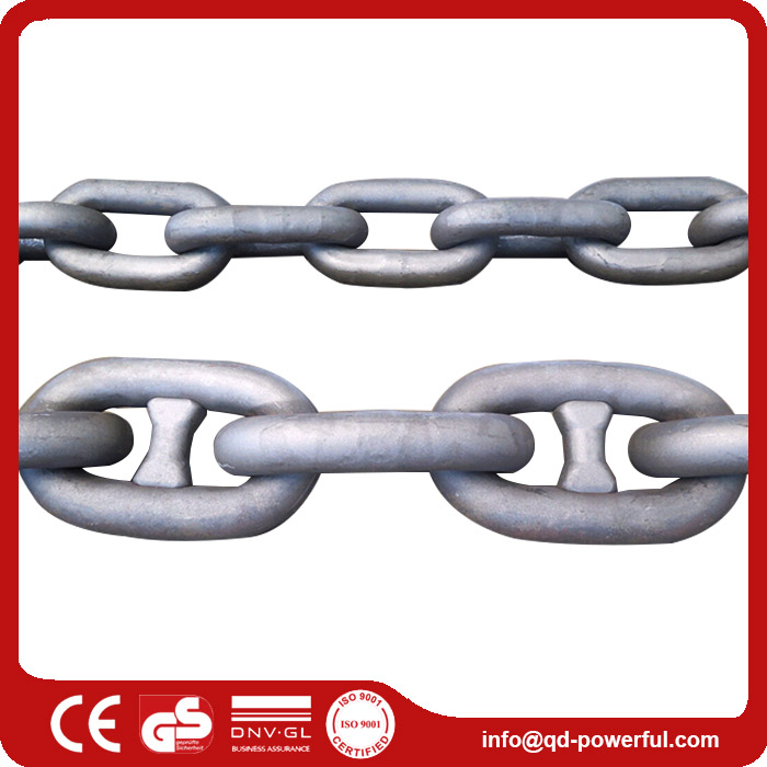 Best Coated Galvanized U1 U2 U3 Steel Stud Link Discount Marine Anchor Chain Parts Accessories For Ship