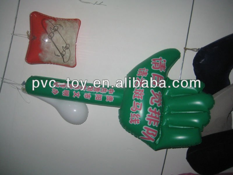 promotional pvc inflatable arms with hands toy products