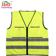 Cheap Yellow 3M Oxford Hi Vis Safety Reflective Jacket Vest with Pocket