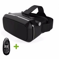 "Real 3D Glasses Cardboard!Adjustsble 3D VR Box Virtual Reality Movie Game Glasses For 3.5-6.0"" Phone + Bluetooth Remote Control"