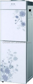 Toughened glass door water dispenser hot cold with tap