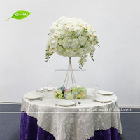 GNW 4ft CTR150442 Rose hydrangea orchid flower ball crystal centerpieces for wedding table decoration