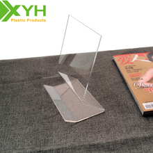Customized Clear Acrylic Brochure Stand Desktop Book Stand Acrylic Magazine Holder