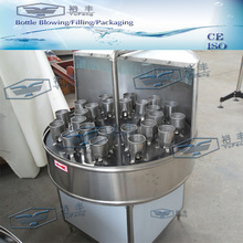 Semi-auto glass bottle washing machine with clear water