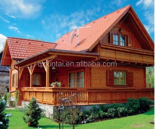 Luxury garden villa prefabricated wooden houses for sale