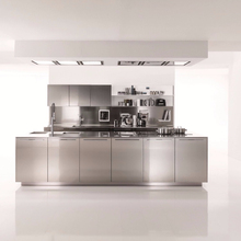 2018 Hangzhou Vermont 304 Stainless Steel Door Design Kitchen Cabinet