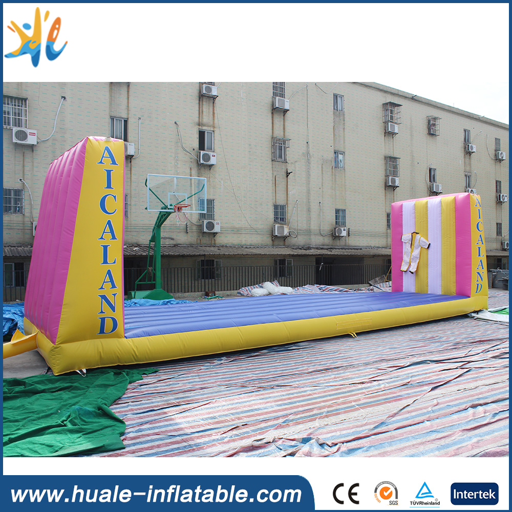 Customized 10.4*2.5*3m velcro sticking wall inflatables for sports game