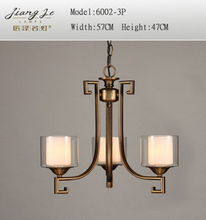 Simple European&American vintage chandelier pendant light for living room,bedroom and hotel