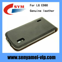 Manufacturer best price cover for Google Nexus4 LG E960 genuine leather flip case
