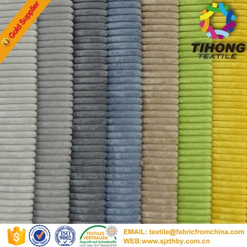 AZO free 100% cotton corduroy fabric for pant wholesale
