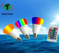 Energy saving E27 3W RGB LED Bulb Lamp light 16 Color changing + IR Remote