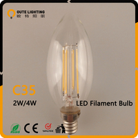 Antique Industrial 2W 4W LED C35 Led Wall Filament Candle Lights