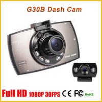"G30B Car black box dashcam 2.7"" LCD HD 720p car front and rear camera security camera dvr with night vision"