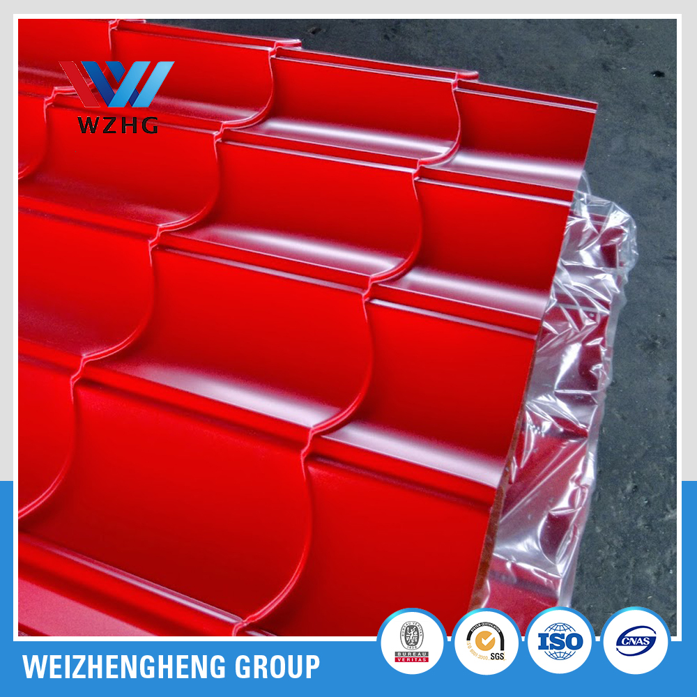 YX828 Glazed Color steel sheet and metal roof ridge tile