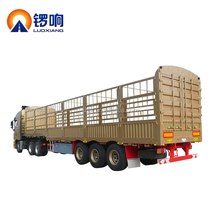3 Axle Stake / Cargo Twist Locks Carrying Container Semi Truck Trailer