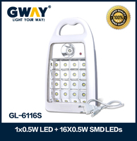 1X0.5W LED spotlight+16X5730SMD 0.5W LED Emergency Light can work 5.5h handle lamp