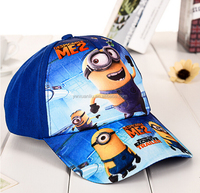 Despicable Me Minions Print Baseball Net Hat Peaked Cap for Boys