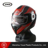 Full coverage anti fog locomotive race handsome flip up Helmet