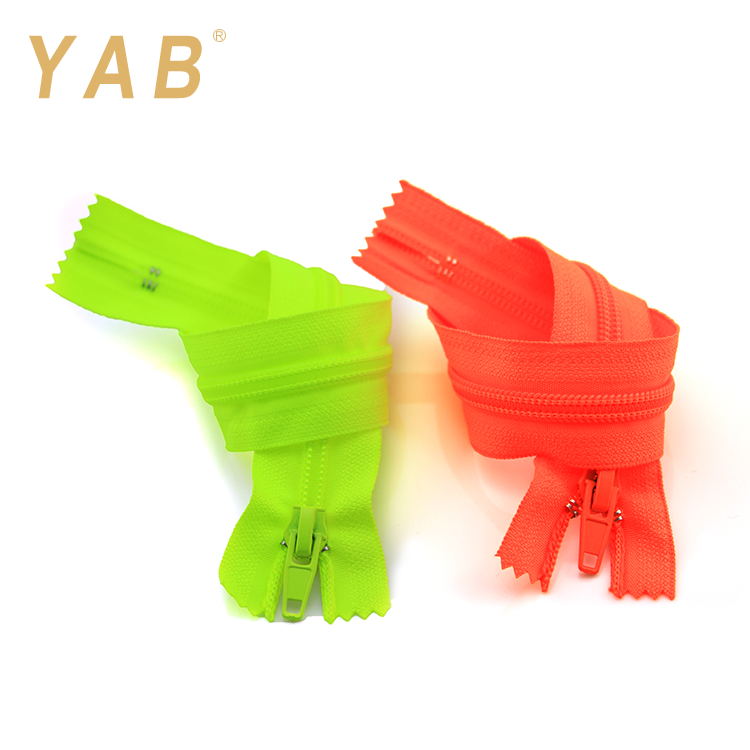 YAB March Expo Finished 3# Colorful Close End Home Textile Teeth Nylon Tape Zip Zipper
