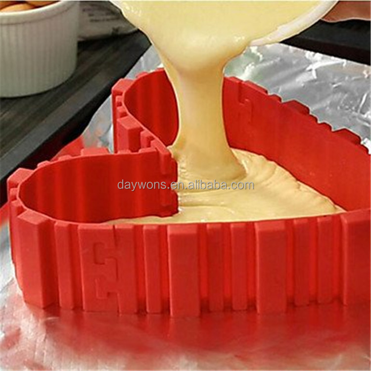 Daywons Nonstick 4PCS Silicone Cake Mold Cake Pan Magic Bake Snake DIY Baking Mould Tools Design Your Cakes Any Shape