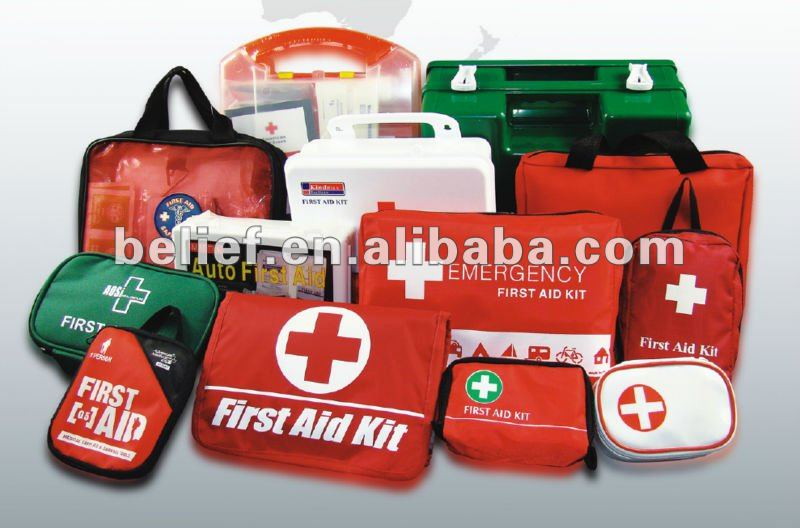 First Aid Kit Survival Bag for Emergency - Car, Home, Traveling, Camping, Hiking, Office or Sports - CE ,ISO,FDA appvoal