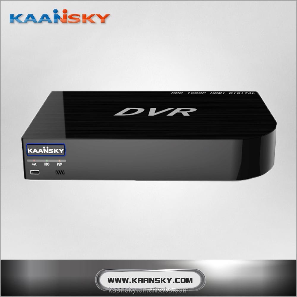 KAANSKY NEW DESIGN 1080P 4CH AHD DVR SUPPORT 2 SATA HDD WITH P2P CLOUD SERVICE