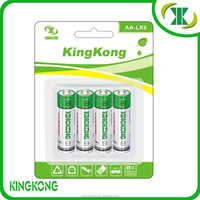 1.5V LR6 AA AM-3 Alkaline dry Non rechargeable battery with long working life
