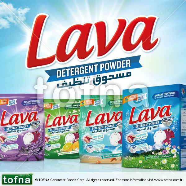 Lava Washing Powder / Detergent Powder for Automatic Wash, Lemon Perfume