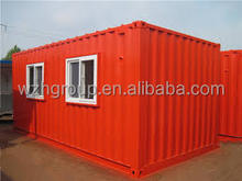 high quality 20ft modified red expandable container house for living