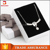 Wholesale high end accessories for women necklace fashion jewelry necklace thin beautiful chain pure silver chain necklace