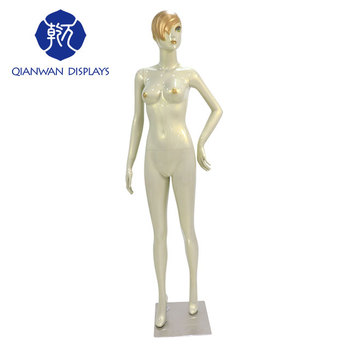Fiberglass apparel mannequins white window realistic female mannequin