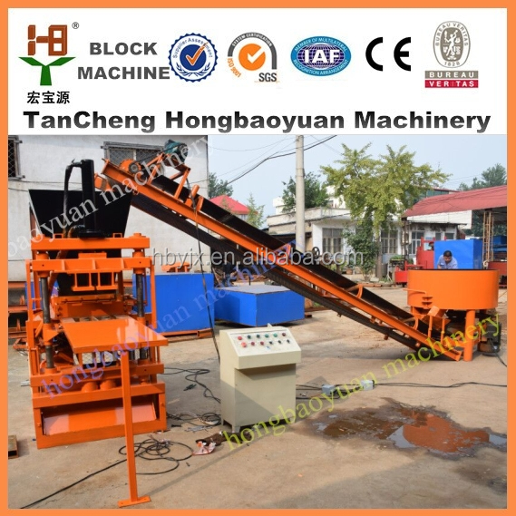 HBY 2-10 innovative new products block making machine/automatic concrete interlocking brick machine in india
