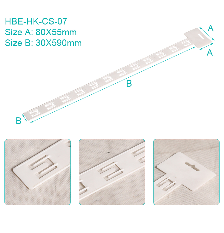 12 hook retail hanging display plastic pp merchandising clip strip