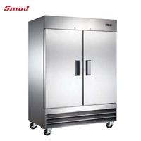 2 Doors Stainless Steel Commercial Kitchen Reach-in Refrigerator