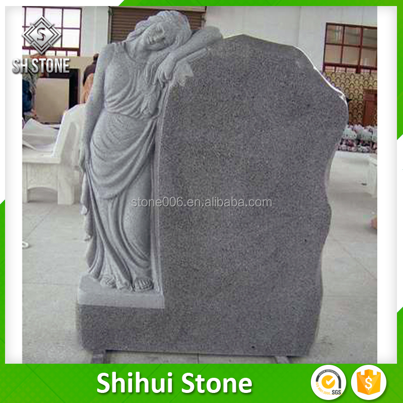 Shihui Stone New Shanxi Black Simple Design Granite Tombstone The National Monuments For Cemetery