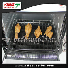 PTFE Coated Non-stick Oven Cooking Grid Sheet - cooking crispness, pizza in oven, BBQ grill
