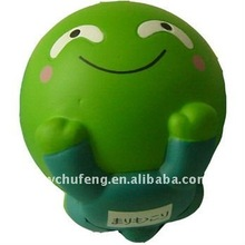 PU foamed antistress smiling face toy for promotional gifts