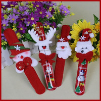 2015 christmas hanging decoration,plush fabric slap wristband