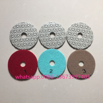 Marble stone Granite Diamond 3 steps polishing pads